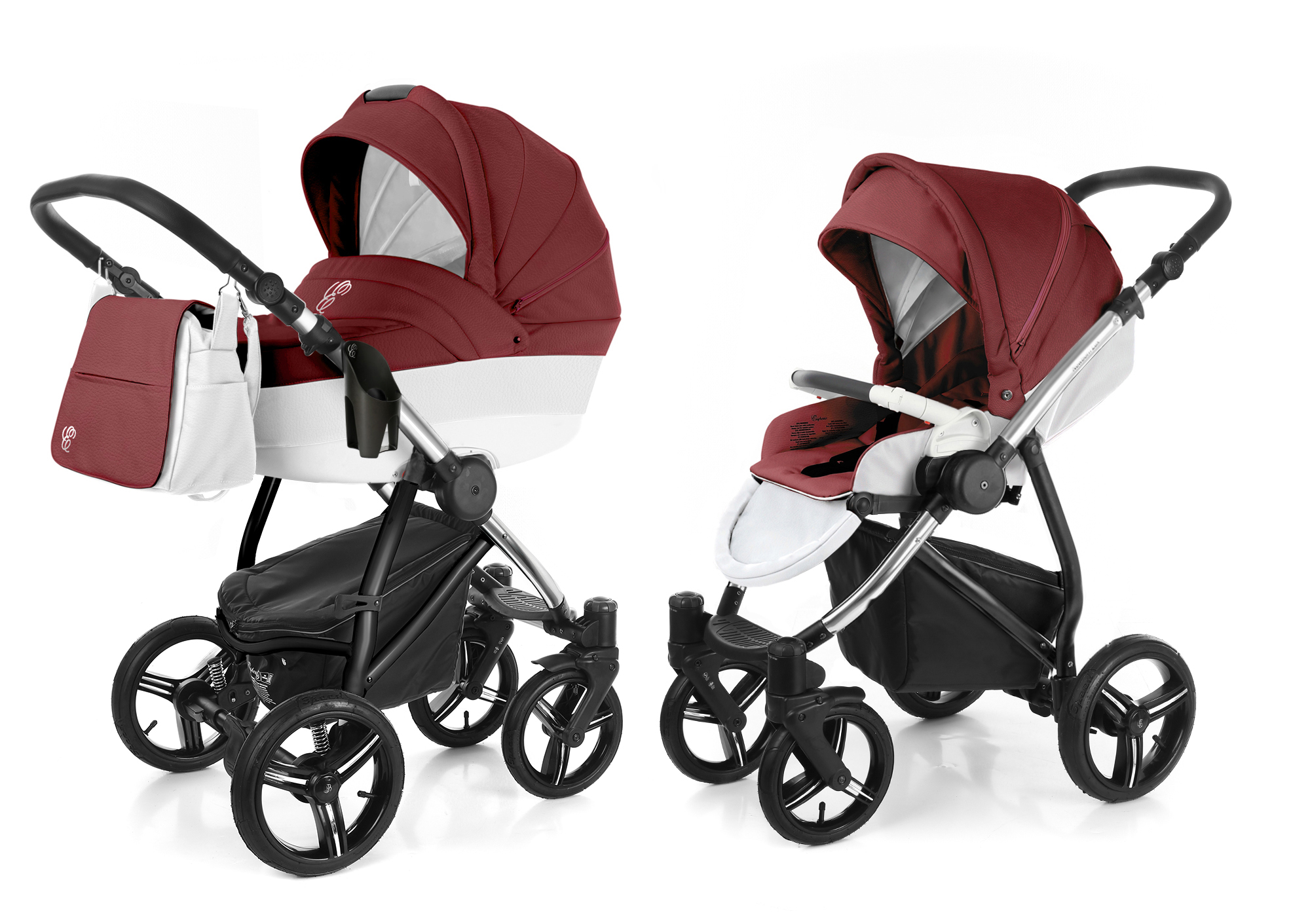Коляска 2 в 1 Esspero Grand Newborn Lux (шасси Chrome). Фото N7
