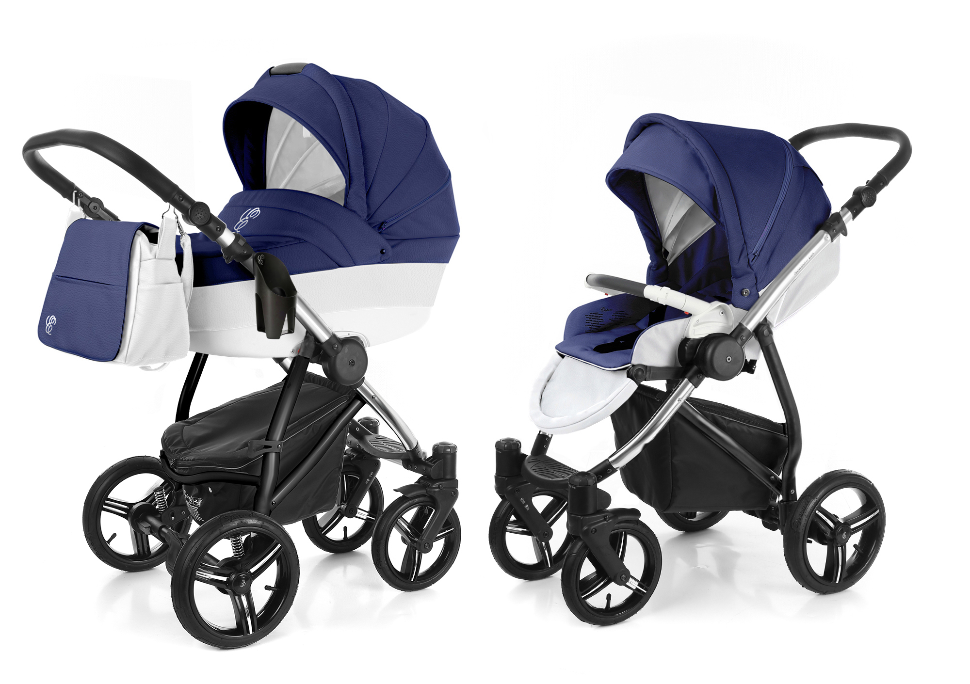 Коляска 2 в 1 Esspero Grand Newborn Lux (шасси Chrome). Фото N4
