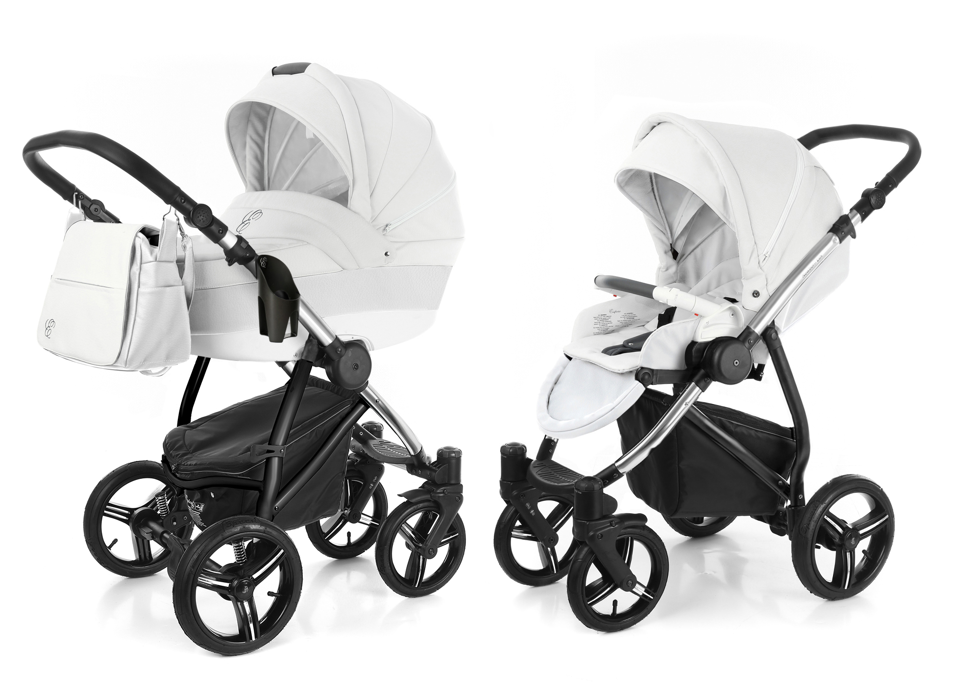 Коляска 2 в 1 Esspero Grand Newborn Lux (шасси Chrome). Фото N11