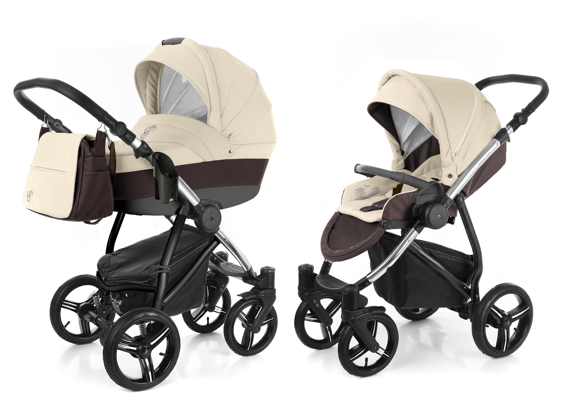 Коляска 2 в 1 Esspero Grand Newborn Lux (шасси Chrome). Фото N10