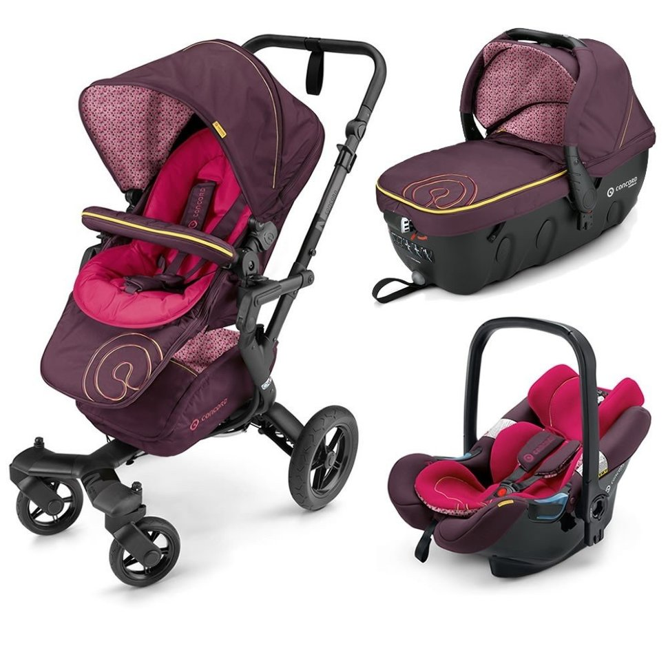 Коляска Concord Neo Travel Set 3 в 1 Rose Pink 2016
