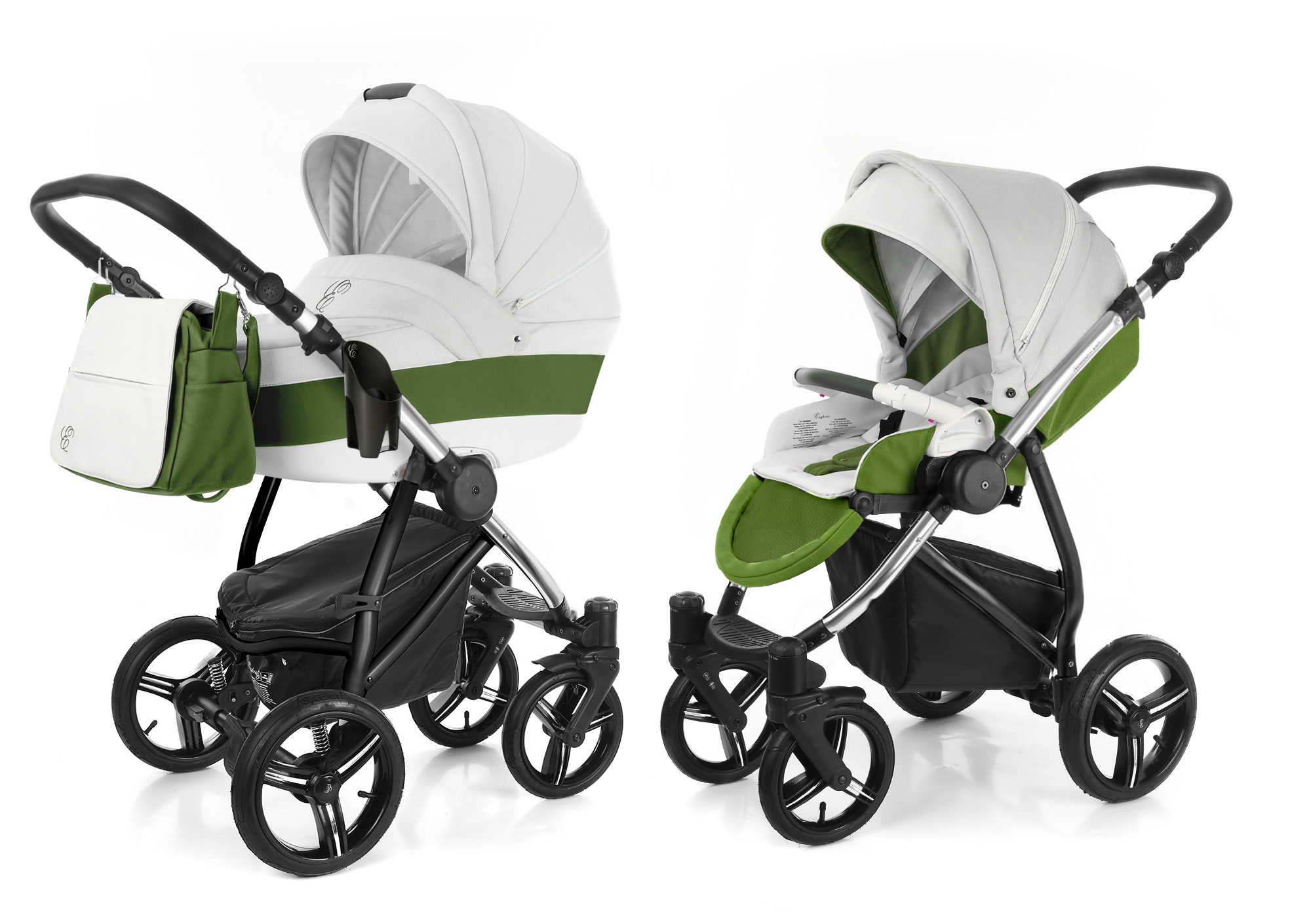 Коляска 2 в 1 Esspero Grand Newborn Lux (шасси Chrome). Фото N12