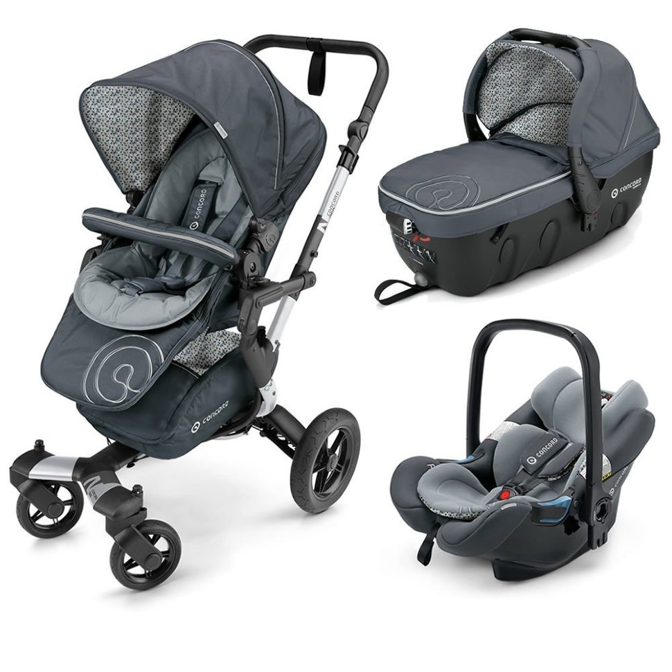 Коляска Concord Neo Travel Set 3 в 1 Graphite Grey 2016