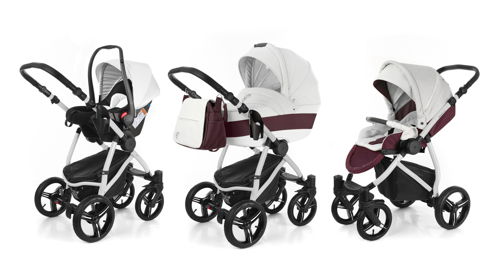 Коляска 3 в 1 Esspero Grand Newborn Lux (шасси Grey)