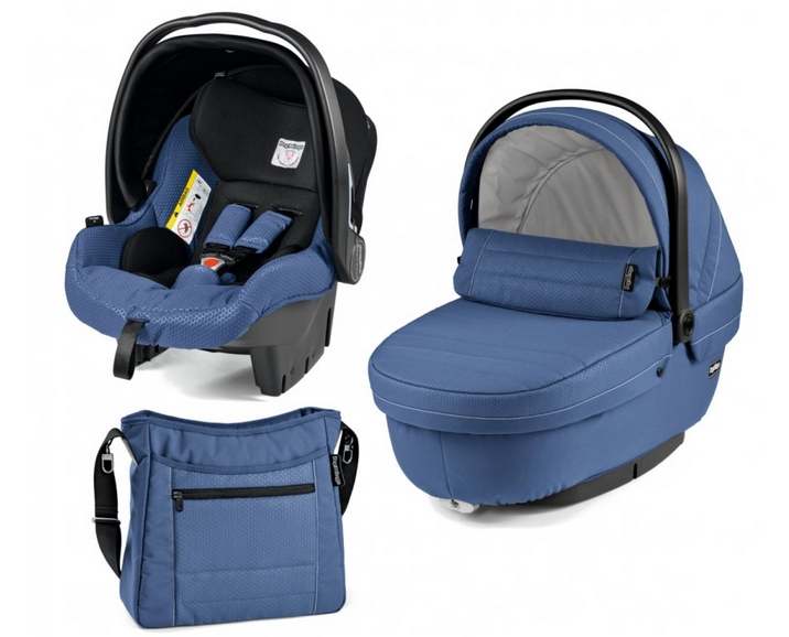 Модульная система 3 в 1 Peg-Perego Set SL+прогулочный блок Pop-Up Sportivo Mod Bluette