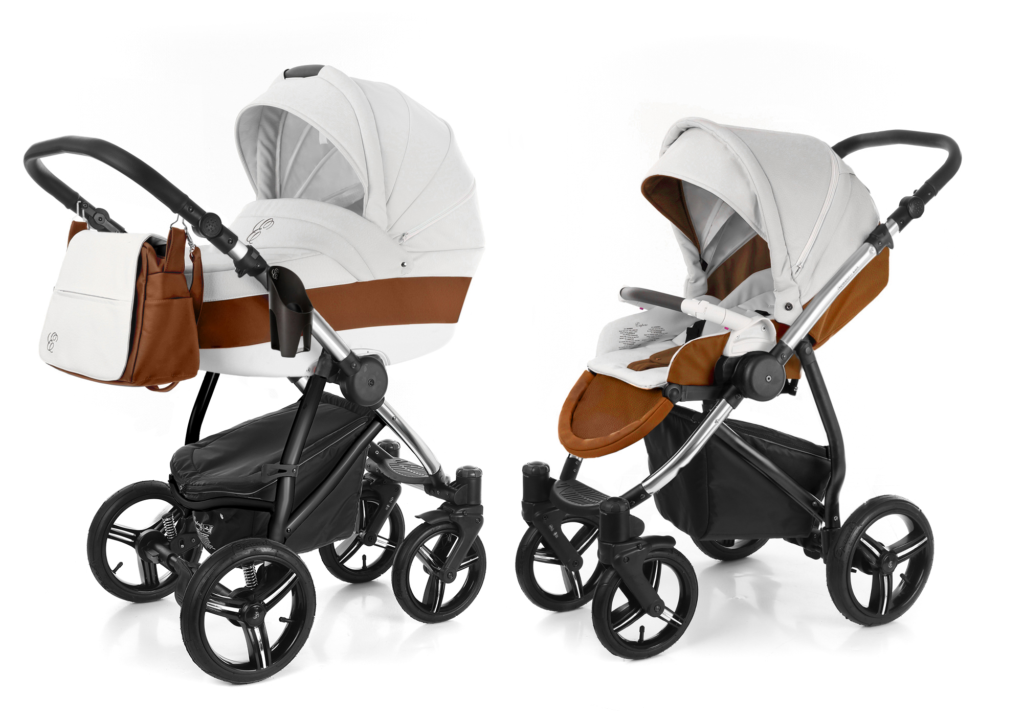 Коляска 2 в 1 Esspero Grand Newborn Lux (шасси Chrome). Фото N3