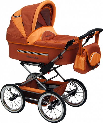Коляска 3 в 1 Maxima STYLE XL №313 rusty-orange