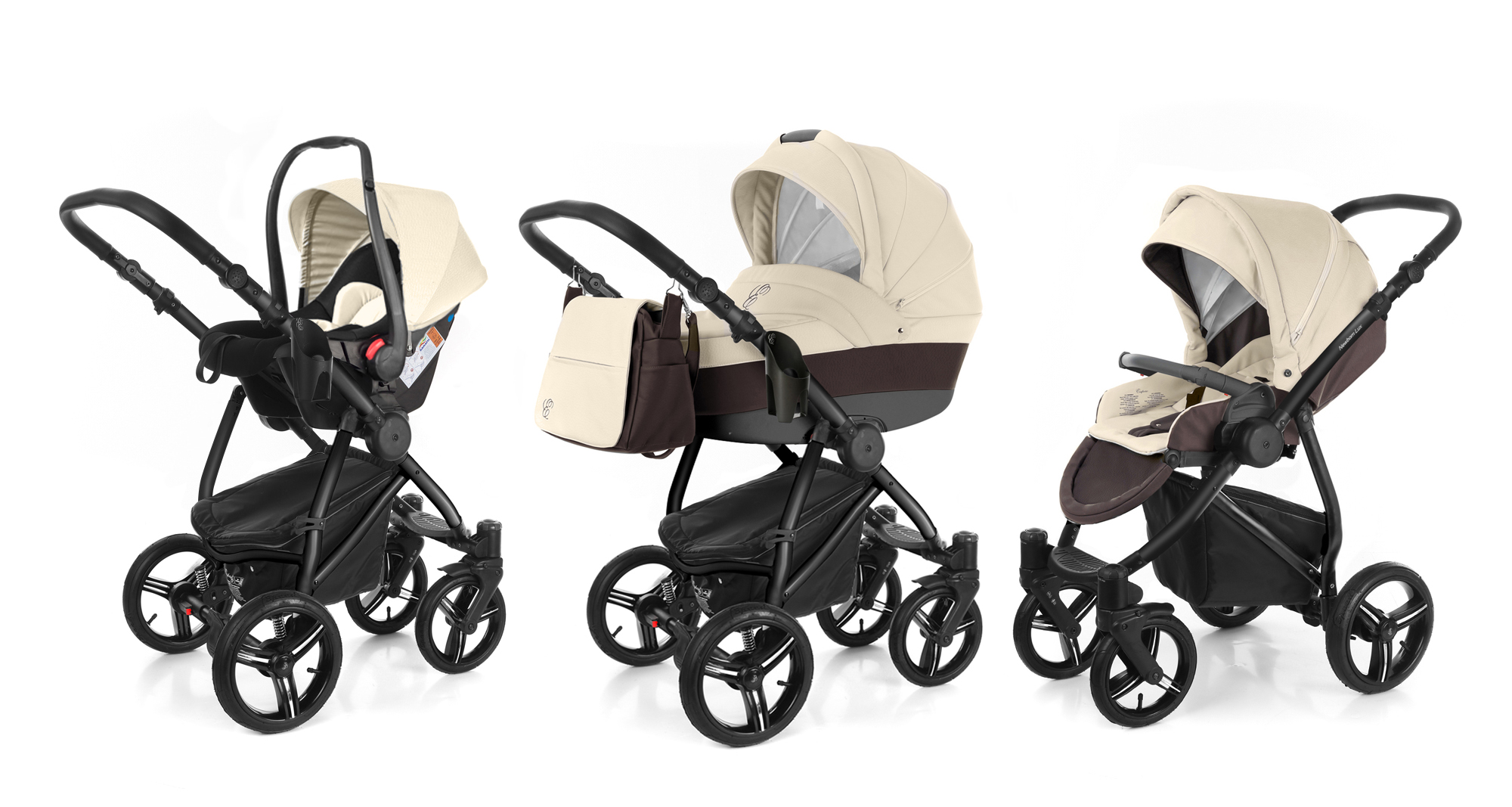 Коляска 3 в 1 Esspero Grand Newborn Lux (шасси Black). Фото N9