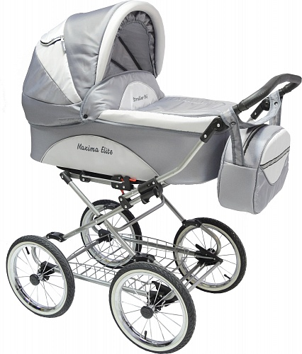 Коляска 2 в 1 Maxima ELITE XL №119 Gray-light gray
