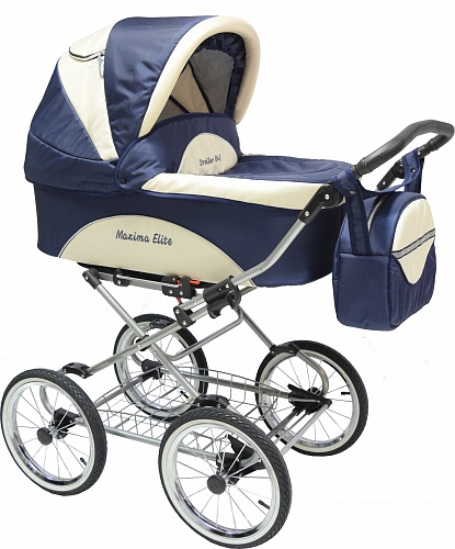 Коляска 2 в 1 Maxima ELITE XL №109 Blue-beige
