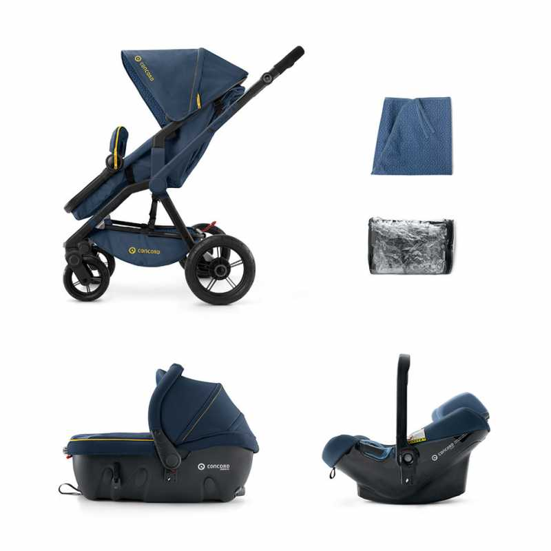 Коляска Concord Wanderer Travel Set (3 в 1) Denim Blue 2015