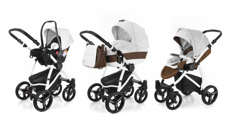 Коляска 3 в 1 Esspero Grand Newborn Lux (шасси White)